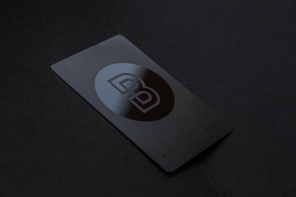 Prime Business Cards Blackwhite Satin Pvc Cards