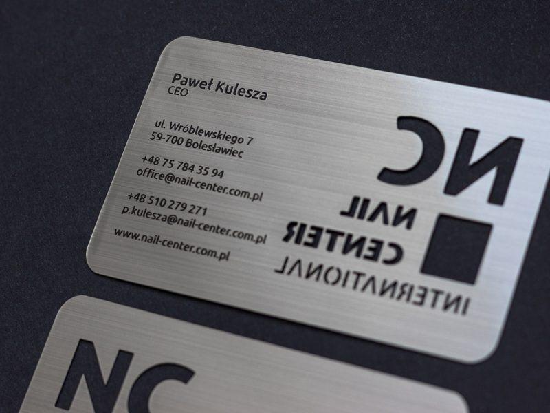 Brushed silver metal card1