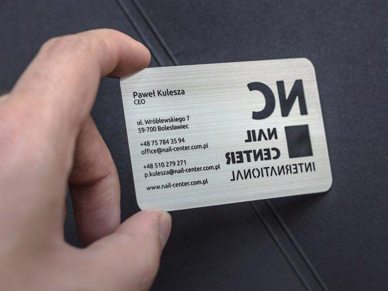 Brushed silver metal card3