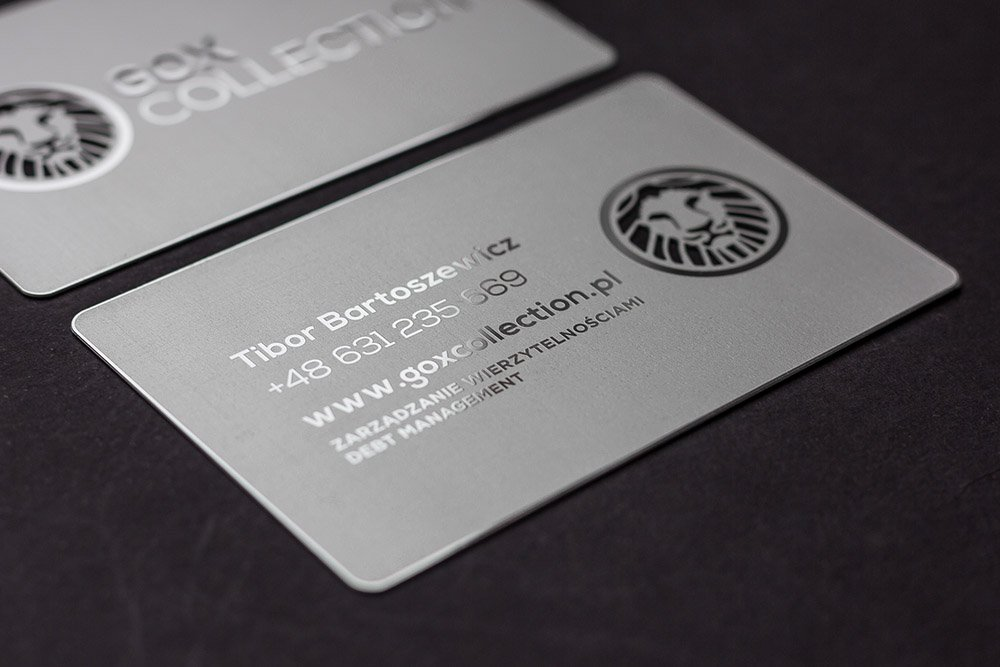 Your Premium Cards | Matte silver metal card- GOX
